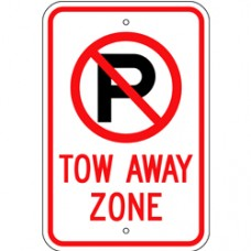 Traffic Control - No Parking Symbol - Tow Away Zone .080 Reflective Aluminum