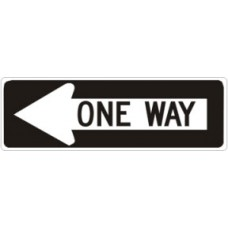 Traffic Control - One Way Left .080 Reflective Aluminum
